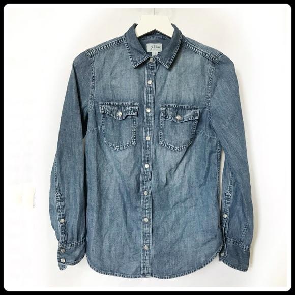 d2d14819ff J. crew Western chambray shirt in vintage indigo